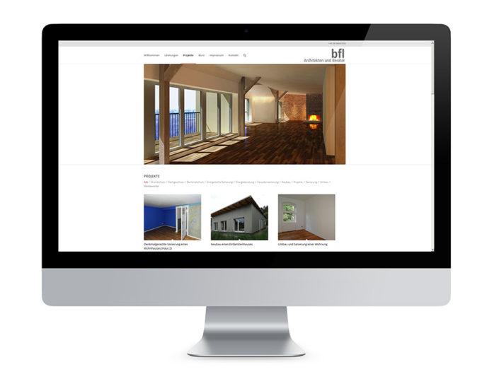 Webdesign Berlin, bfl Architekten