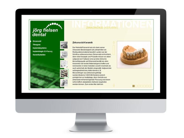 Webdesign Halberstadt, Dentallabor Fielsen