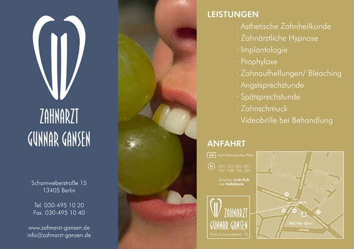 Plakat: Zahnarztpraxis Gansen, Berlin