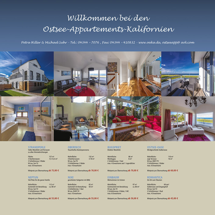 Plakat: Ostsee Appartements Kalifornien