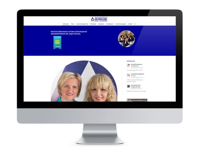 Webdesign Berlin, Zahnarztpraxis Peschel