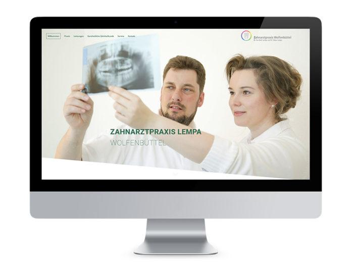 Webdesign Wolfenbüttel, Zahnarztpraxis Dr. Lempa