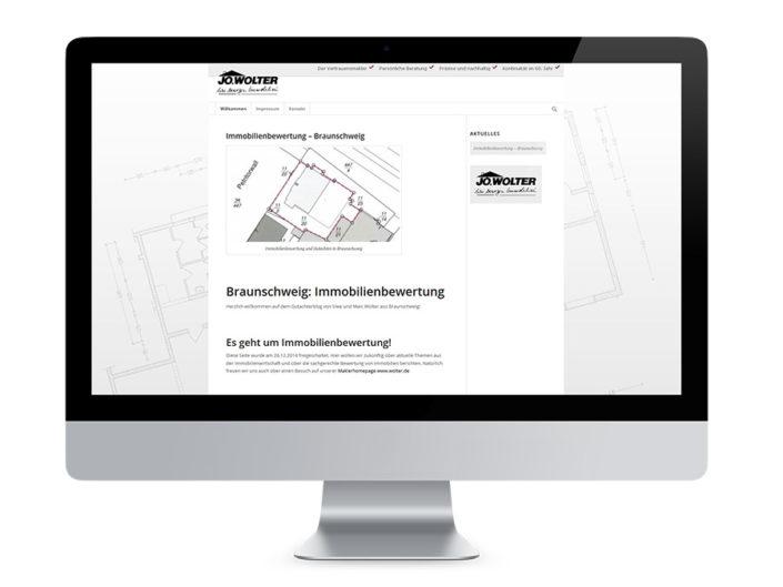 Webdesign Braunschweig, Jo. Wolter Immobilien