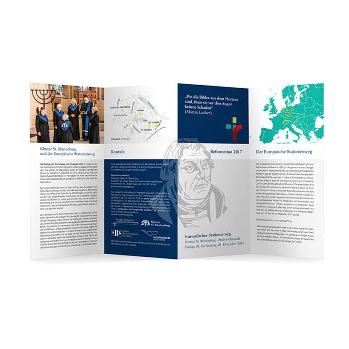 Printdesign | Europäischer Stationenweg - Reformation 2017