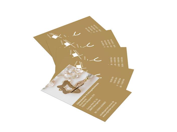 Schmuckwerkstatt und Schaugoldschmiede, Visitenkarten