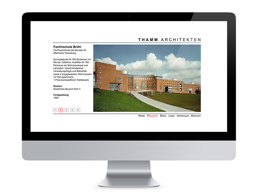 Webdesign Braunschweig, Thamm Architekten