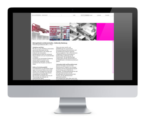 Webdesign Hannover, mm architekten BDA