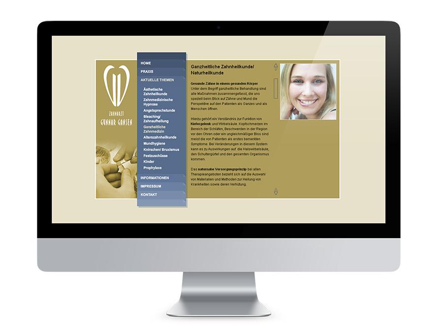 Webdesign Berlin, Zahnarztpraxis Gansen