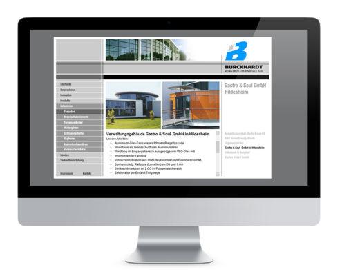 Webdesign Hannover, Metallbau Burckhardt GmbH