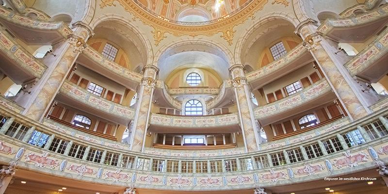 Architekturführer Frauenkirche Dresden | Emporen