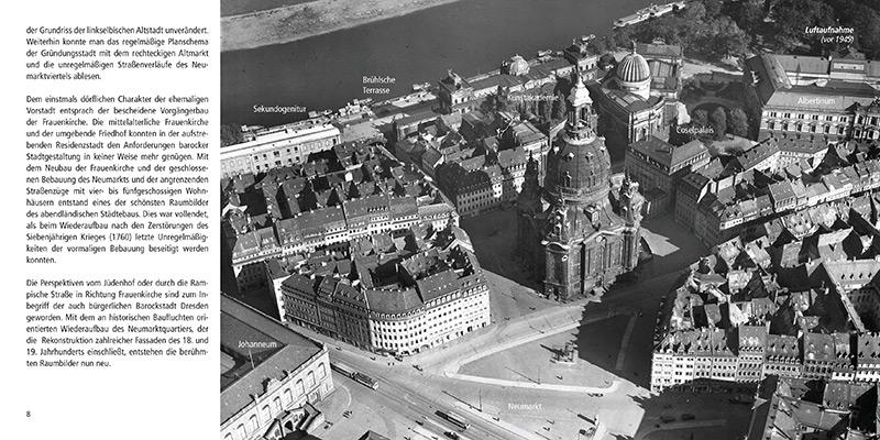 Architekturführer Frauenkirche Dresden | Luftbild vor der Zerstörung