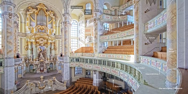 Architekturführer Frauenkirche Dresden | Orgel und Emporen
