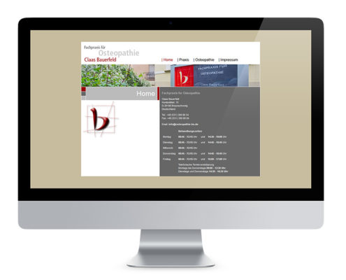 Webdesign Braunschweig, Fachpraxis für Osteopathie