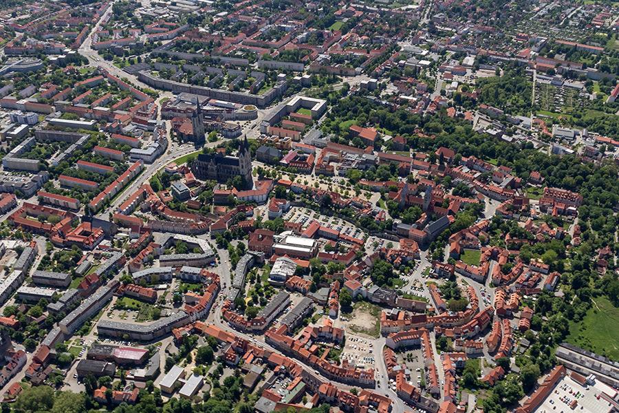 Luftbild Halberstadt | Altstadt