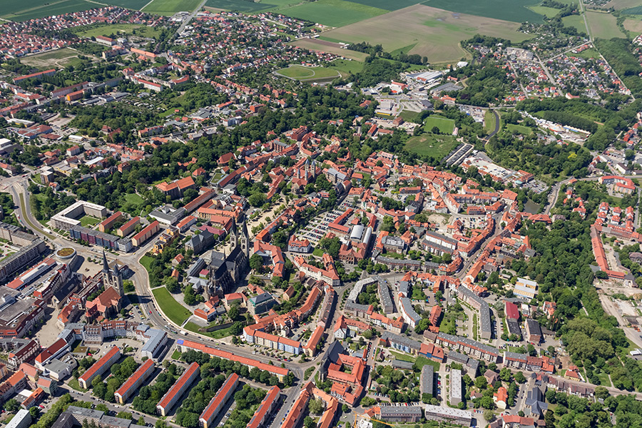 Luftbild Halberstadt | Innenstadt