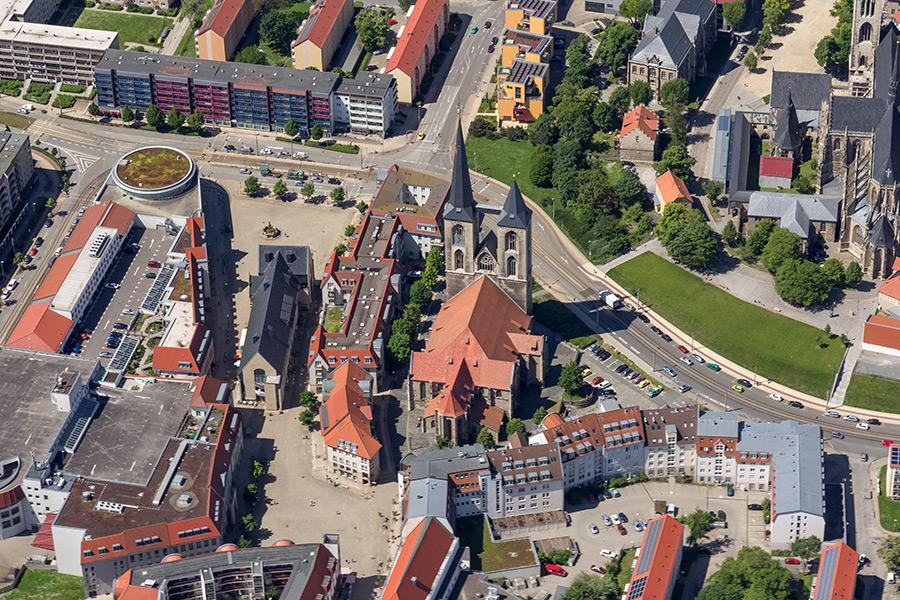 Luftbild Halberstadt | St. Martinikirche