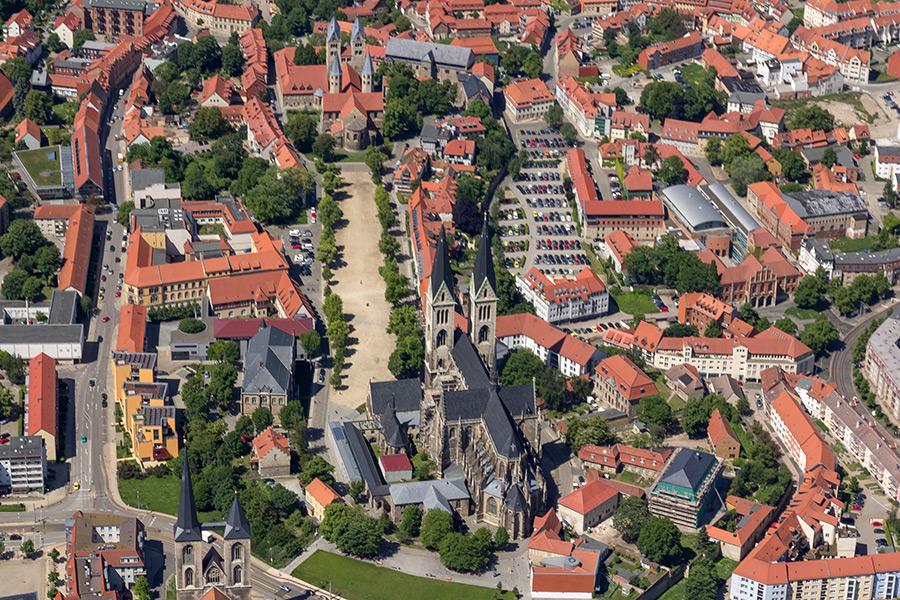 Luftbild Halberstadt | Domplatz
