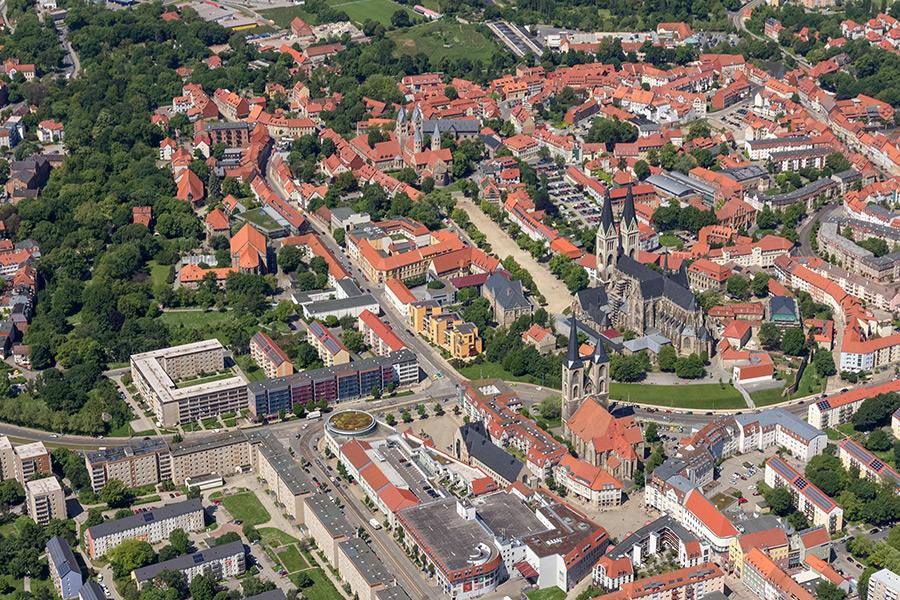 Luftbild Halberstadt | Fischmarkt und Domplatz