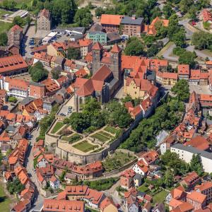 Luftbild Schlossberg Quedlinburg