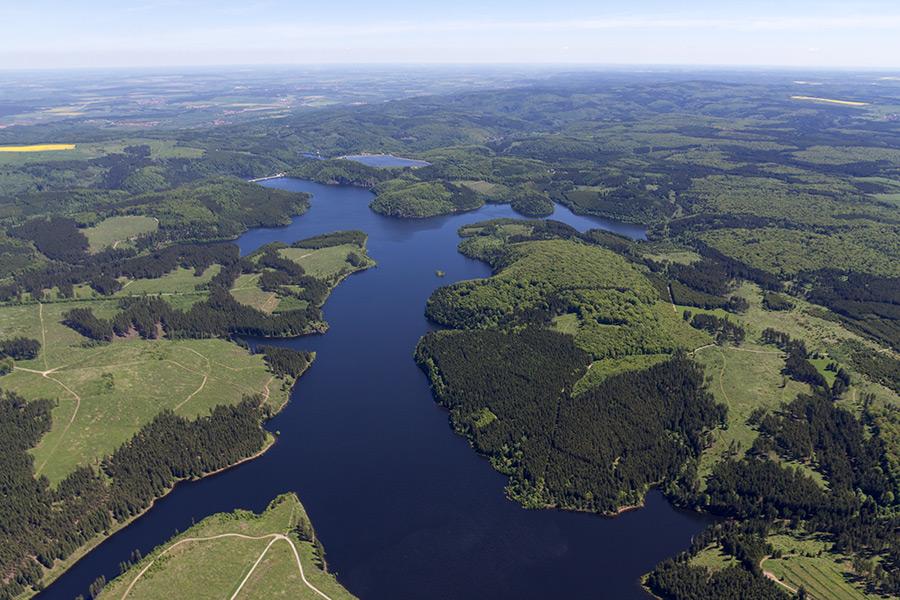 Luftbild Rappbode-Talsperre Harz