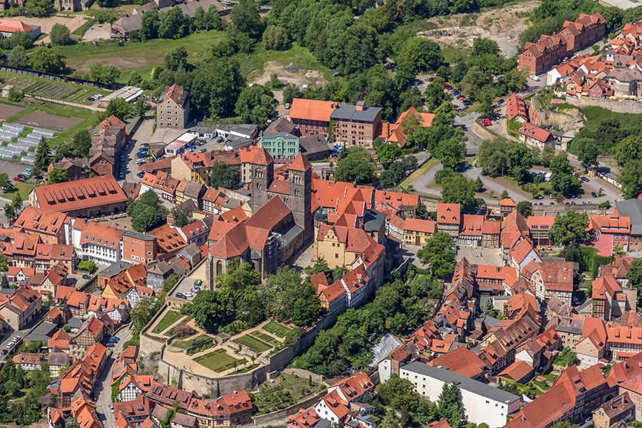 Luftbild Quedlinburg | Schlossberg