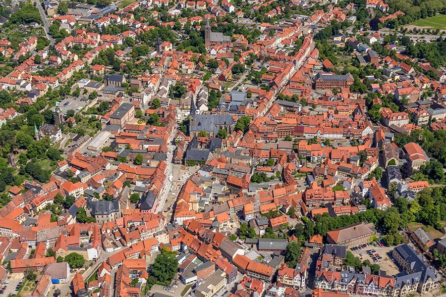 Luftbild Quedlinburg | Markt
