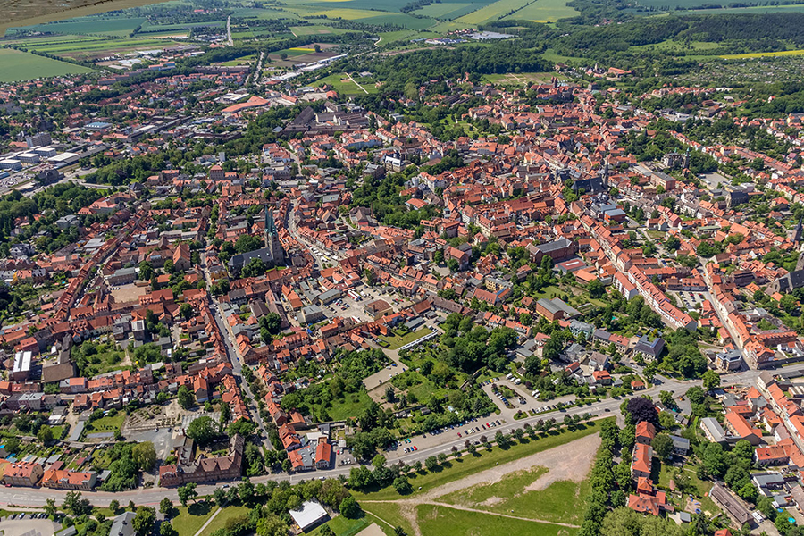 Luftbild Quedlinburg