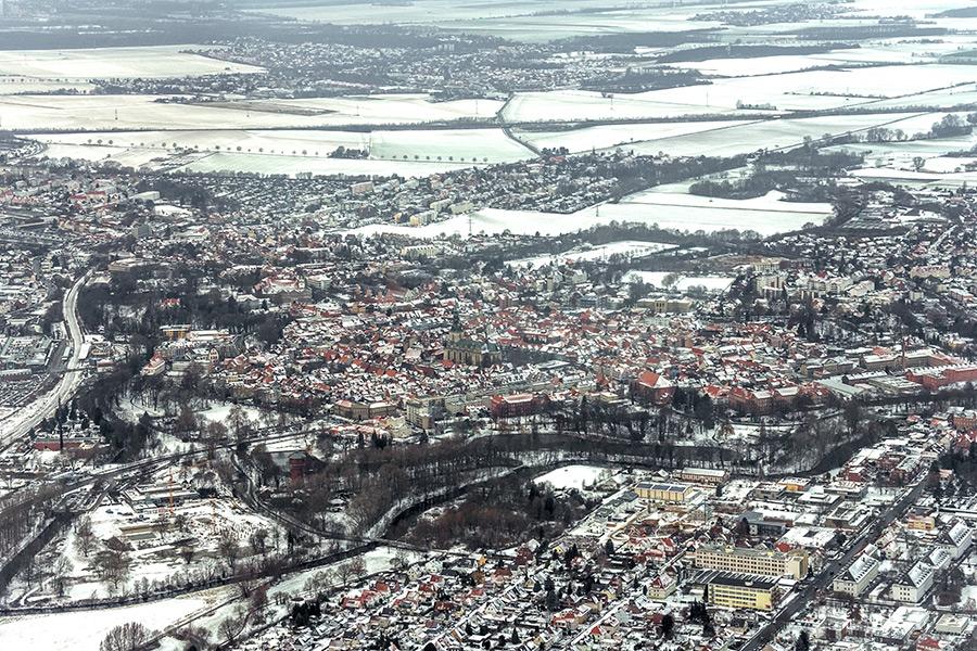 Luftbild Wolfenbüttel | Altstadt, Südwestansicht im Winter