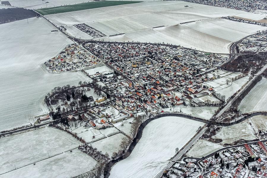 Luftbild Wolfenbüttel | Halchter im Winter