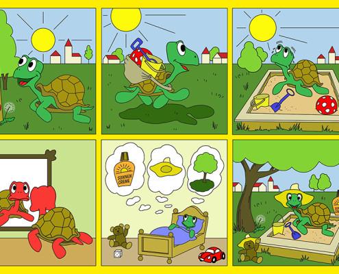 Plakat: Sunpass - Gesunder Sonnenspaß für Kids