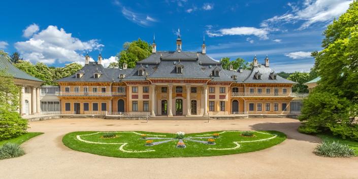 Kotyrba Architekturfotografie Dresden | Schloss Pillnitz, Bergpalais mit Hochstativ