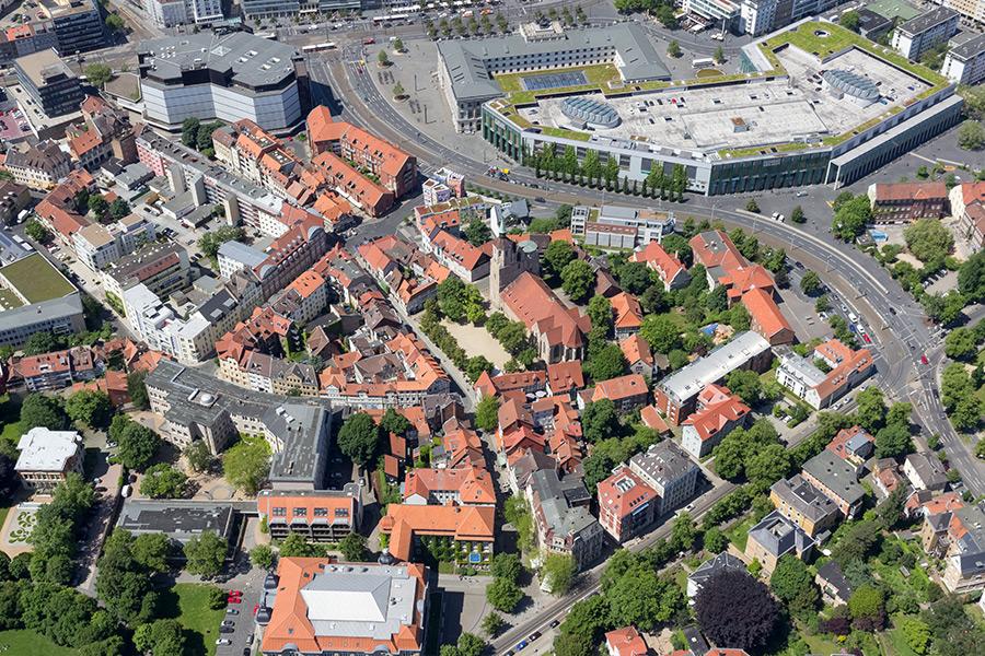 Luftbild Magniviertel Braunschweig | Sándor Kotyrba