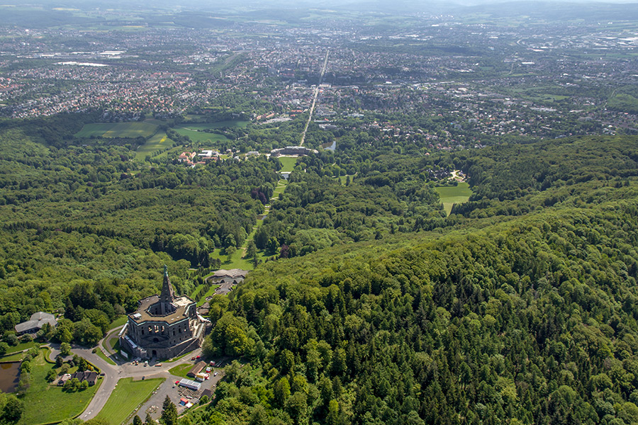 Luftbild Bergpark Wilhelmshöhe Kassel