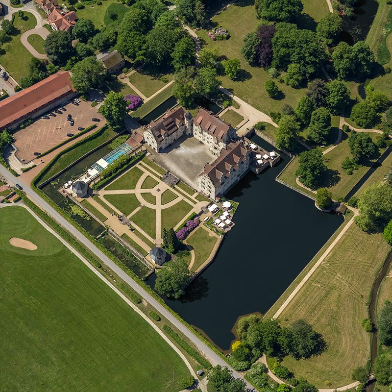 Luftbild Schloss Schwöbber