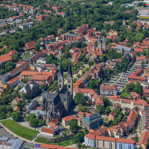 Luftbild Domplatz Halberstadt