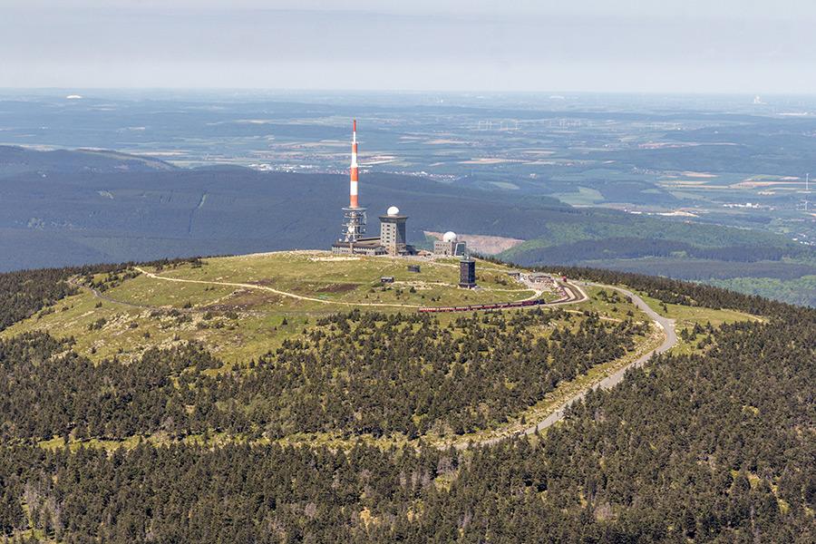 Luftbild Brocken Harz | Südwestansicht (#8936)