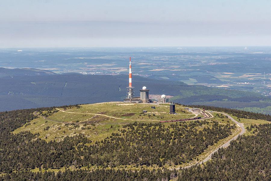 Luftbild Brocken Harz | Südansicht (#8937)