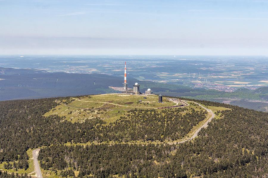Luftbild Brocken Harz | Radarstation (#8939)