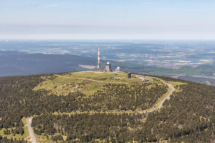 Luftbild Brocken Harz | Sommer (#8940)