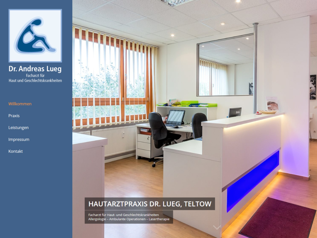 Webdesign | Hautarzt Dr. Lueg Teltow