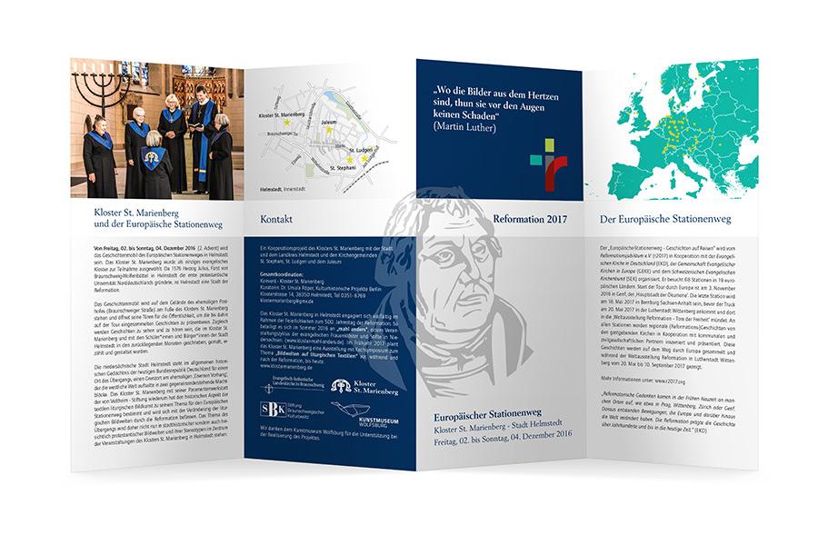 Grafikdesign Braunschweig | Faltblatt Europäischer Stationenweg, Vorderseite