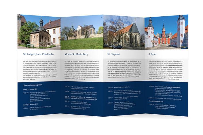Grafikdesign Braunschweig | Faltblatt Europäischer Stationenweg, Innenseite