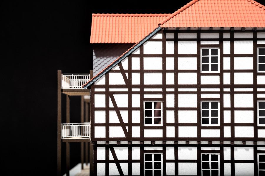Sándor Kotyrba Architekturfotografie Braunschweig   Architekturmodell Fachwerkhaus