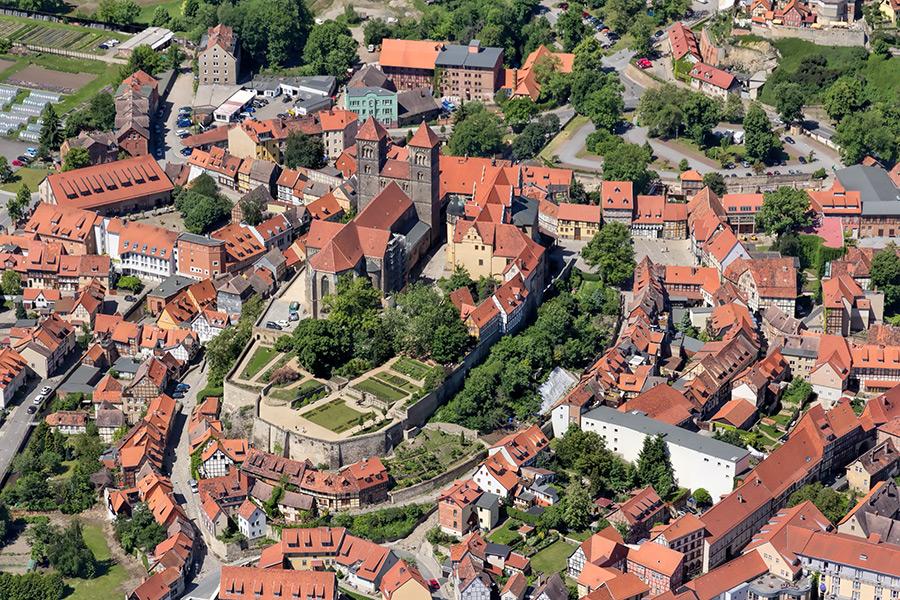 Kotyrba Luftbildfotografie Quedlinburg   Stiftskirche St. Servatius