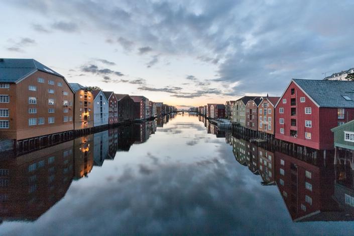 Fotografie Cityscape   Gamle Bybro, Trondheim, Norwegen