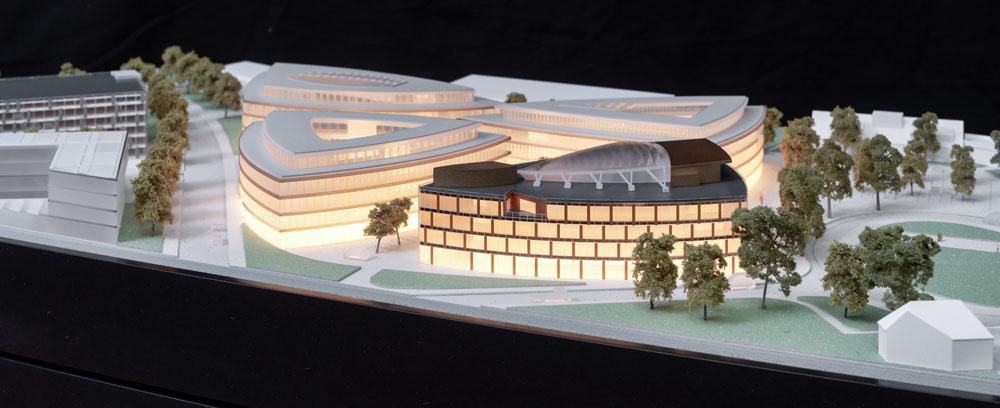 Kotyrba Architekturfotografie Braunschweig | Architekturmodell Lilienthalquartier mit Beleuchtung