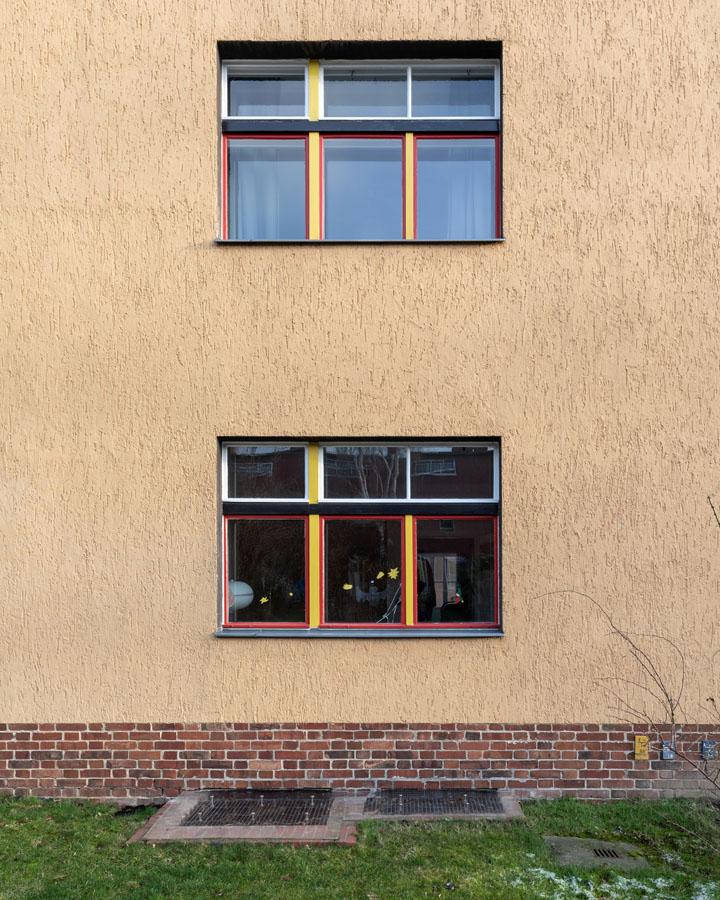 Kotyrba Architekturfotografie Berlin   Bruno-Taut-Haus, Fassade auf der Rückseite