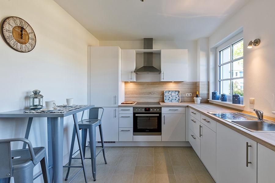 Küche | Strandrose Ostsee-Appartements Kalifornien
