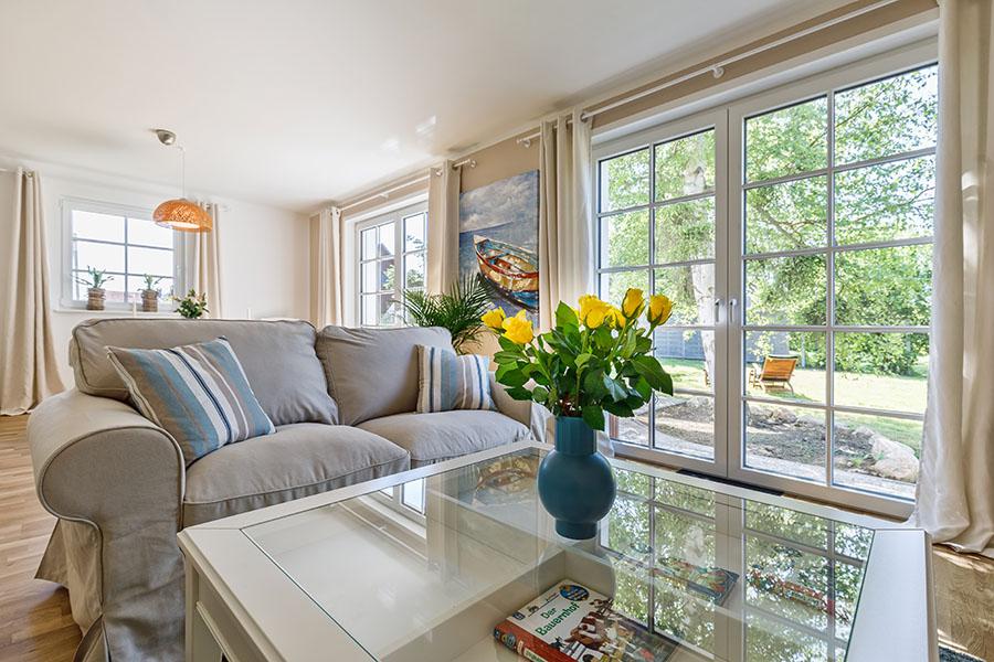 Wohnbereich | Strandrose Ostsee-Appartements Kalifornien