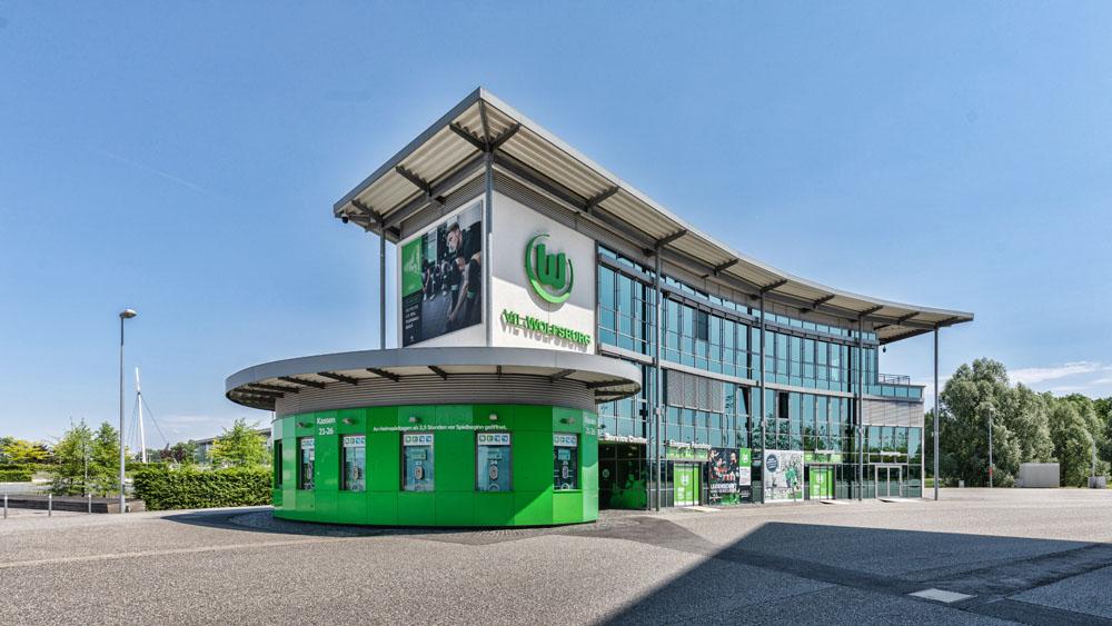 Allerpark Wolfsburg, Vfl-Fanshop | Sándor Kotyrba Architekturfotografie